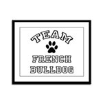 Team French Bulldog Framed Panel Print