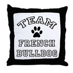 Team French Bulldog Throw Pillow