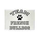 Team French Bulldog Rectangle Magnet