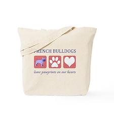 French Bulldog Pawprints Tote Bag