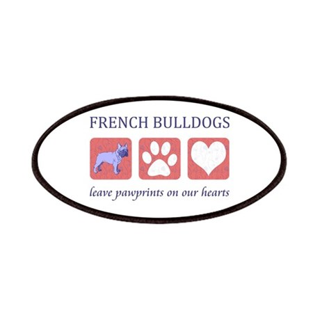 French Bulldog Pawprints Patches