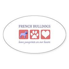 French Bulldog Pawprints Decal
