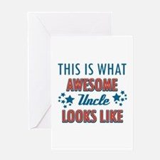 Awesome Uncle Designs Greeting Card