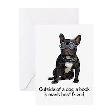 Best Friend French Bulldog Greeting Card