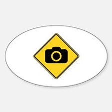 Warning : Photographer Sticker (Oval)