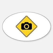 Warning : Photographer Sticker (Oval 10 pk)