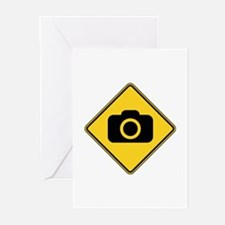 Warning : Photographer Greeting Cards (Pk of 20)