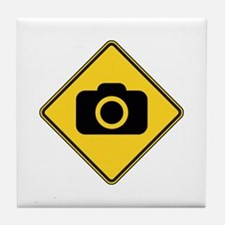 Warning : Photographer Tile Coaster
