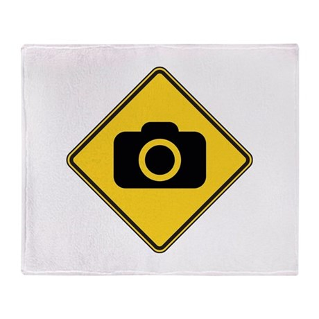 Warning : Photographer Throw Blanket