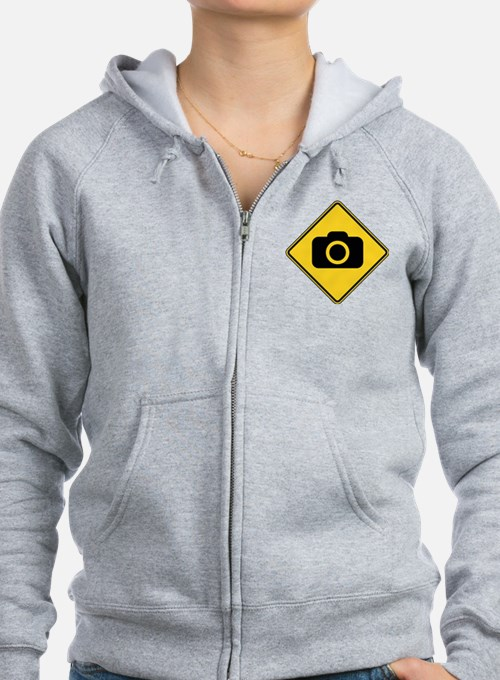 Warning : Photographer Zip Hoodie