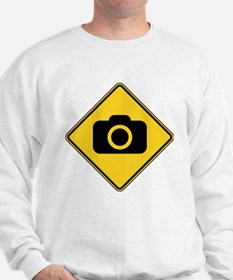 Warning : Photographer Sweatshirt