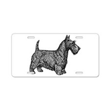Scottish Terrier Aluminum License Plate