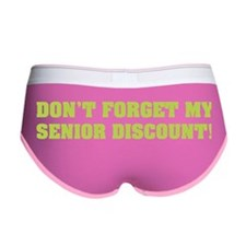 Senior Discount Women's Boy Brief
