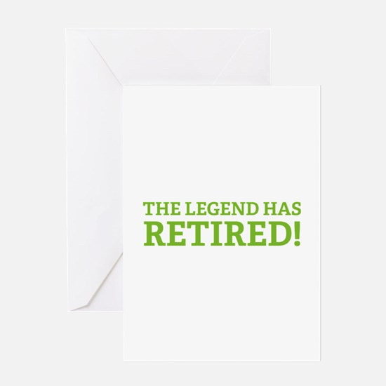 The Legend Has Retired! Greeting Card