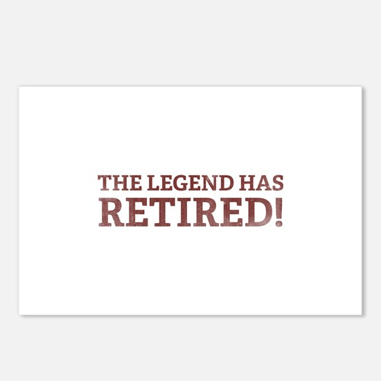 The Legend Has Retired! Postcards (Package of 8)