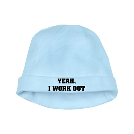 YEAH, I WORK OUT baby hat