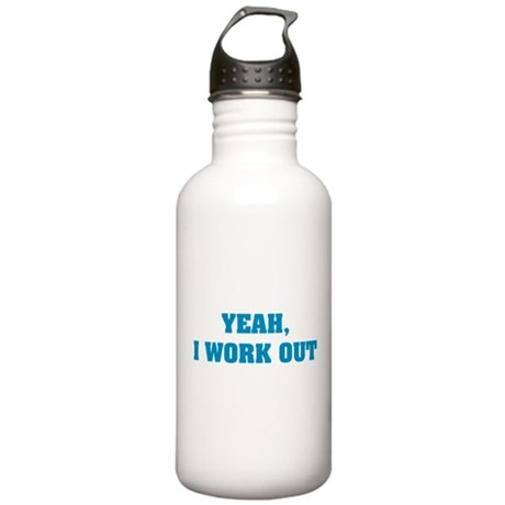 YEAH, I WORK OUT Stainless Water Bottle 1.0L