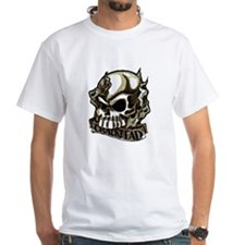 Crackhead Skull And Smoke Tattoo Art T-Shirt