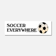 Soccer Everywhere Car Magnet 10 x 3