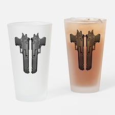 50 Caliber Pistols Drinking Glass