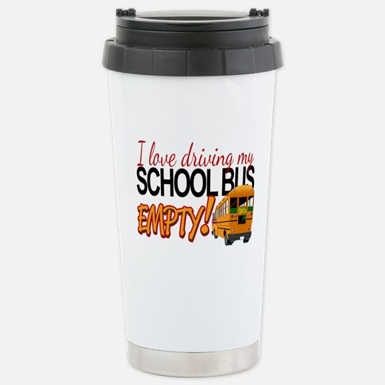 Bus Driver - Empty Bus Stainless Steel Travel Mug
