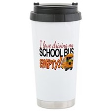 Bus Driver - Empty Bus Thermos Mug