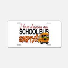 Bus Driver - Empty Bus Aluminum License Plate
