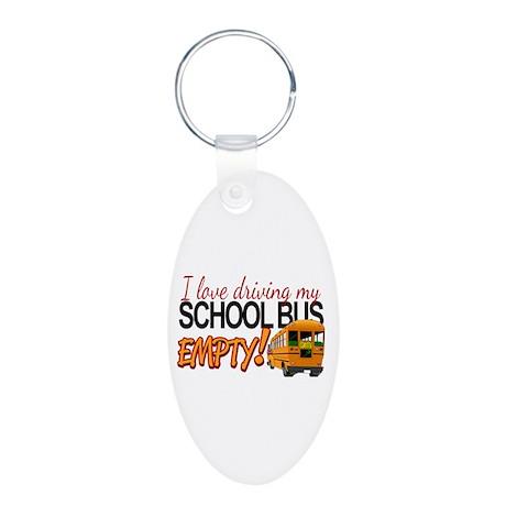Bus Driver - Empty Bus Aluminum Oval Keychain