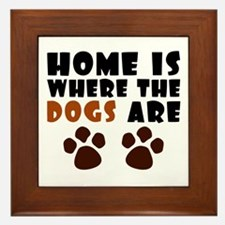 'Where The Dogs Are' Framed Tile