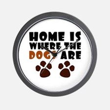 'Where The Dogs Are' Wall Clock