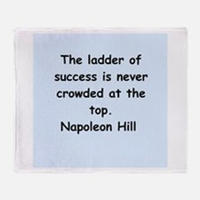 Napolean Hill quotes Throw Blanket