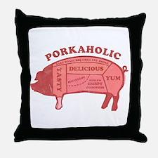 Porkaholic Throw Pillow