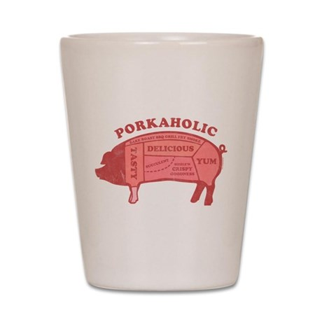 Porkaholic Shot Glass