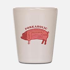 Porkaholic Shot Glass