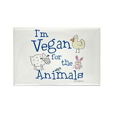 Vegan for Animals Rectangle Magnet