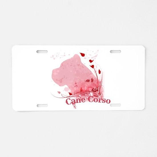 Cute Cane corso mastiff Aluminum License Plate