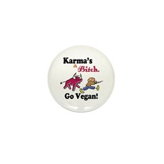 Vegan Karma Mini Button (10 pack)