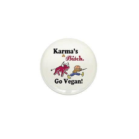 Vegan Karma Mini Button (100 pack)