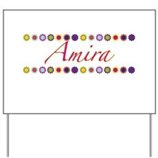 Amira with Flowers Yard Sign
