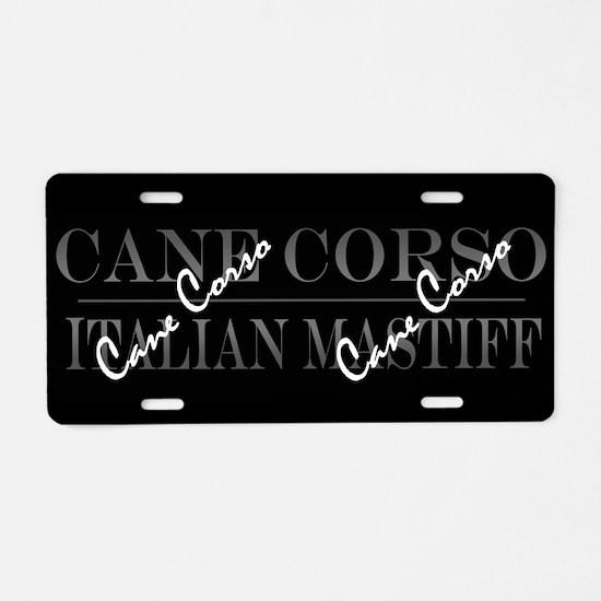 Unique Cane corso mastiff Aluminum License Plate