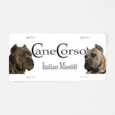 Funny Cane corso italiano Aluminum License Plate