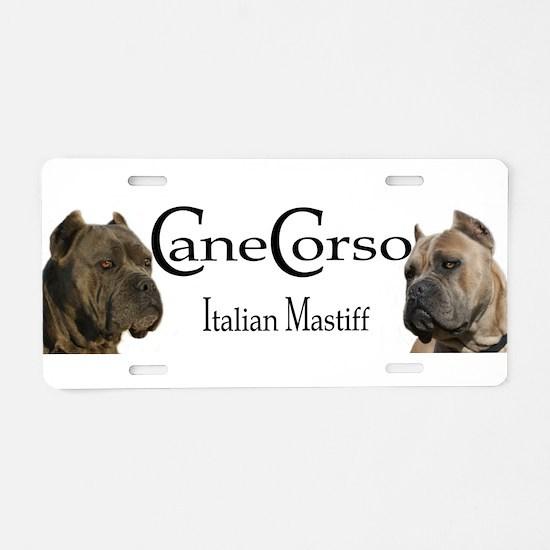 Cane corso mastiff Aluminum License Plate