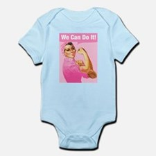 Rosie Riveter Cancer Tattoo Infant Bodysuit