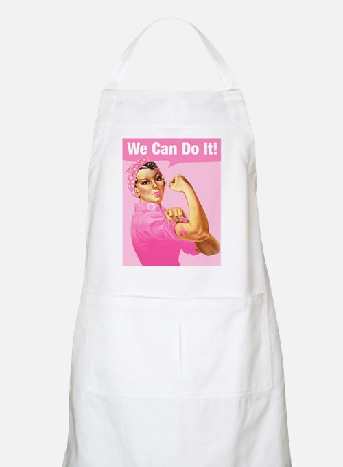 Rosie Riveter Cancer Tattoo Apron