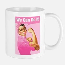 Rosie Riveter Cancer Tattoo Mug