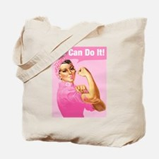 Rosie Riveter Cancer Tattoo Tote Bag