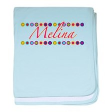 Melina with Flowers baby blanket