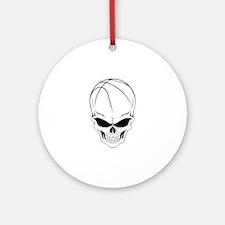 Basketball Skull Ornament (Round)