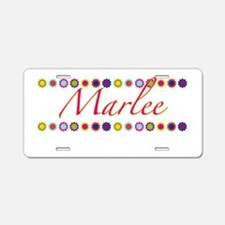 Marlee with Flowers Aluminum License Plate