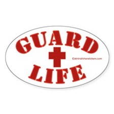 Guard Life Oval Decal